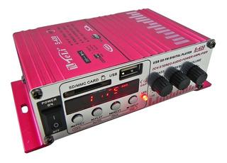 Amplificador De Audio Potencia 10w 2 Canales S-430 Usb Sd