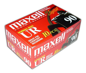 Caixa C/10 Fitas Cassete Maxell Ur 90 - Nova Lacrada