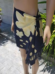 Canga Preta Com Desenhos Amarelos (veja Fotos)