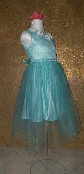 Vestido Circular De Niña Echo Con Encaje Y Tul Con Forro