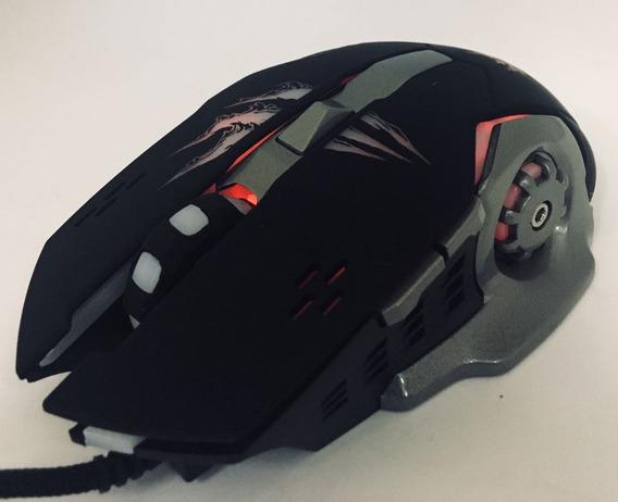 Mouse Usb 1,5 M De Fio Gamer X8 6 Botões 3200 Dpi Led Mac