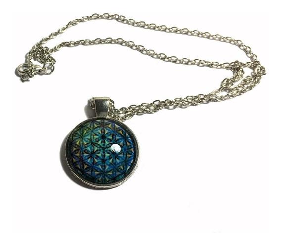 Bijuteria Colar Corrente Medalhão Com Pentagrama