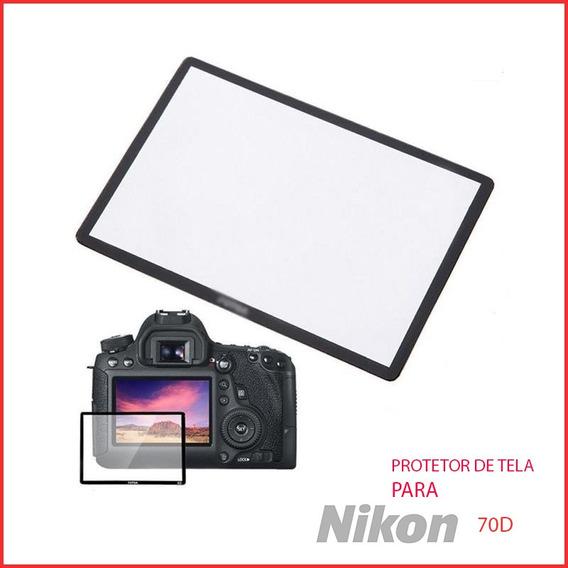 Protetor Proteção Tela Lcd Vidr Optic Camer Maq Nikon D800