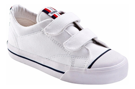 Zapatillas Topper Profesional Velcro Lona Kids Colegial