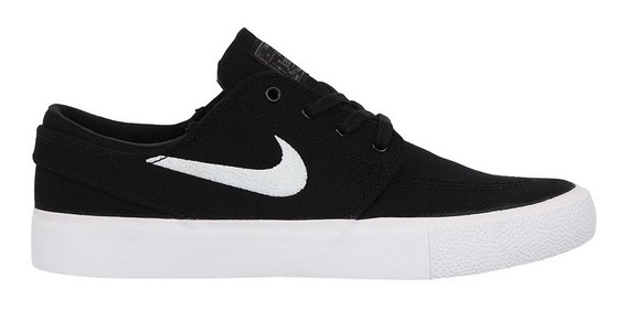 Tênis Nike Sb Zoom Janoski Canvas Rm Black White Thunder