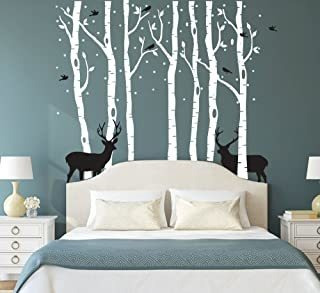 Fymural Forest And Deers Tree Adhesivos De Pared Art Mural W