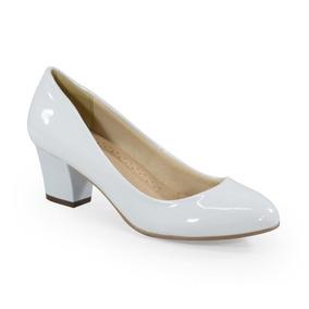 418e3ccdf Sapato Scarpin Feminino Facinelli Branco - Sapatos no Mercado Livre ...