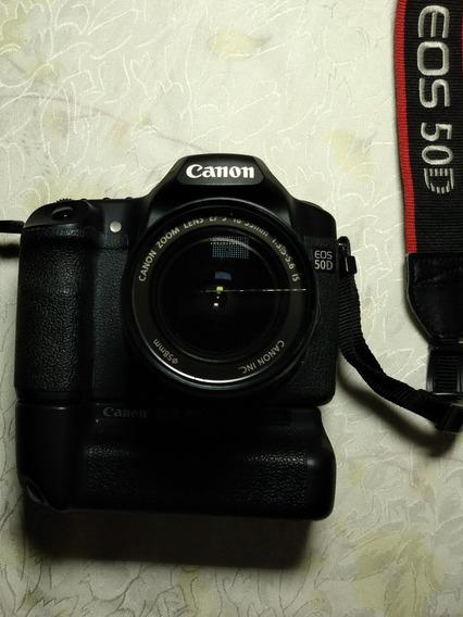 Canon 50 D Com Batery Grip E Lente Zoom
