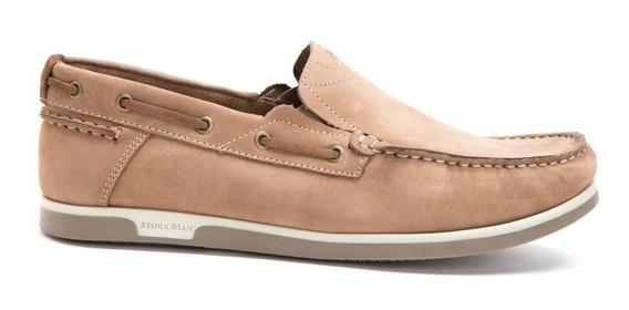 Zapatos Hombre Joaquin Stork Man Mocasín Náutico Cuero