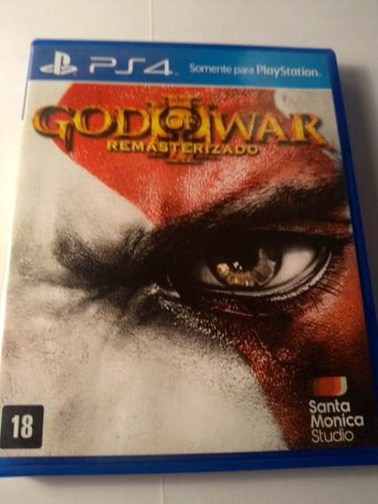 God Of War 3 Remaster Ps4 Mídia Física Original