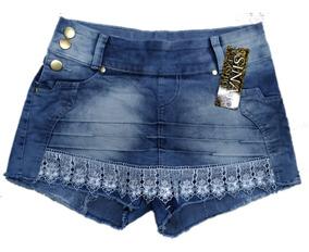 Roupas Femininas Atacado Kit De 05 Shorts Saia Jeans Lycra