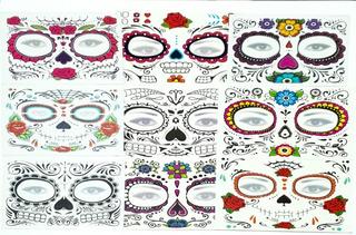 Set 300 Tatuajes Catrina Halloween Hombre Mujer Envio Gratis