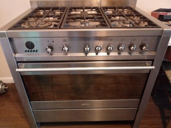 Cocina Smeg 90 Cm Acero Tipo Ariston