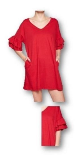 Vestido Remera Volados Volcom Sun Pvowdres119104