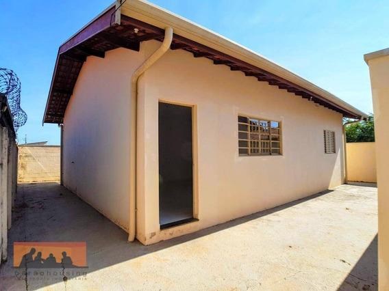 Casa Com 2 Dormitórios Para Alugar Por R$ 1.150,00/mês - Bosque Das Palmeiras - Campinas/sp - Ca1505