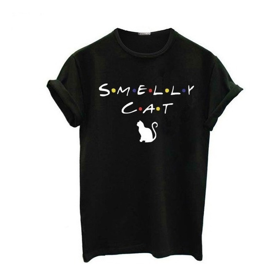 Camiseta Camisa Ou Blusa Baby Look Séries Friends Smelly Cat