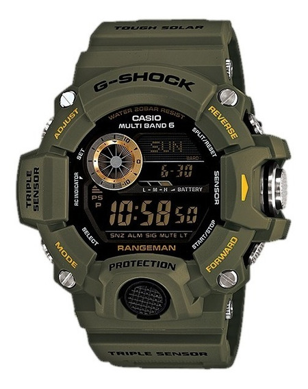 Relogio G-shock Gw-9400-3 Gw9400 Filme Resgate