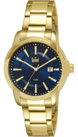 Relógio Masculino Dumont Du2315as/4a Dourado