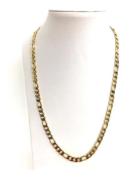 Collar Acero Inox Color Oro 8mm X 60cm Envío Gratis Figaro