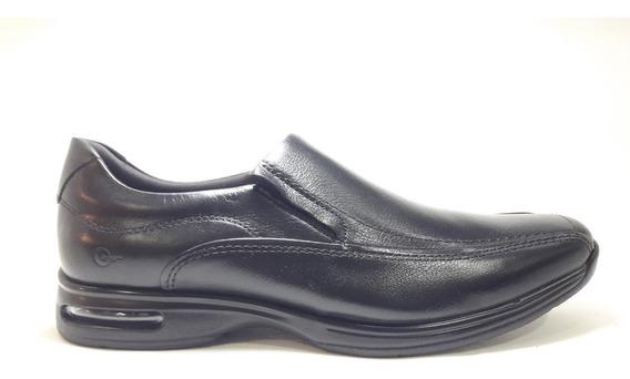 Sapato Smart Comfort Air Spot Preto Ref 448027 +meia Brinde