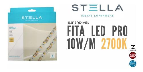 Imagem 1 de 6 de Fita Led Stella 10w/m 2700k Ip20 12v Profissional Sth7814/27