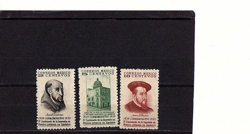 Imagen 1 de 1 de México 1939 : 400 Aniv De La Imprenta , Antonio De Mendoza