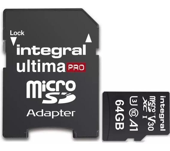 Microsd Integral Pro 64 Gb (sdxc)original 4k Ultra Gravação