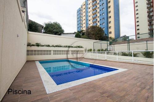 Apartamento Com 2 Dormitórios À Venda, 58 M² Por R$ 339.000,00 - Parque Das Nações - Santo André/sp - Ap9412
