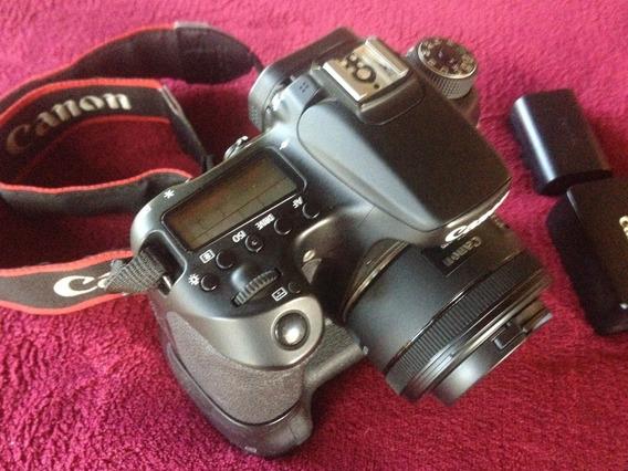 Canon 70d Wi-fi 20.2mp + Lente 50mm 1.8 Stm + Grip + 2 Bat.