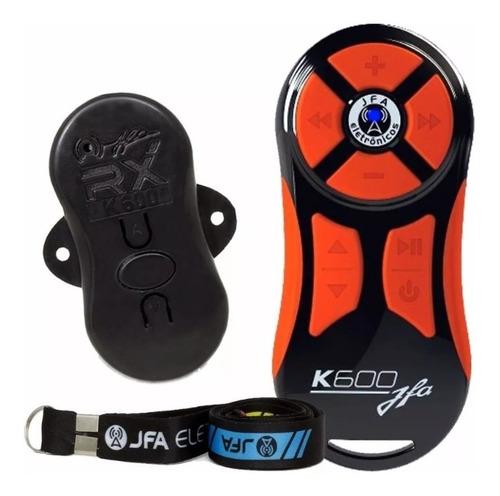 Controle Longa Distancia Jfa K600 Preto Com Laranja