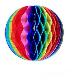 30 Colmeia Papel Colorida 25cm Bola Decoração Festa Infantil
