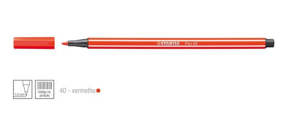Caneta Hidrográfica Escolar Stabilo 1.0mm 1 Unidade Vermelho