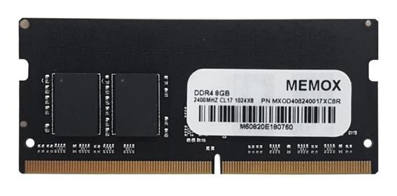 Memoria Ram Notebook Memox 8 Gb Ddr4 2400 Mhz Cl17 1024 X8
