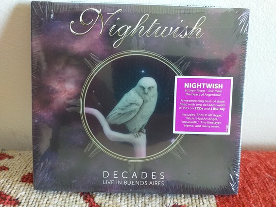 Nightwish: Live In Bs As -digipack: Blu Ray + 2 Cds