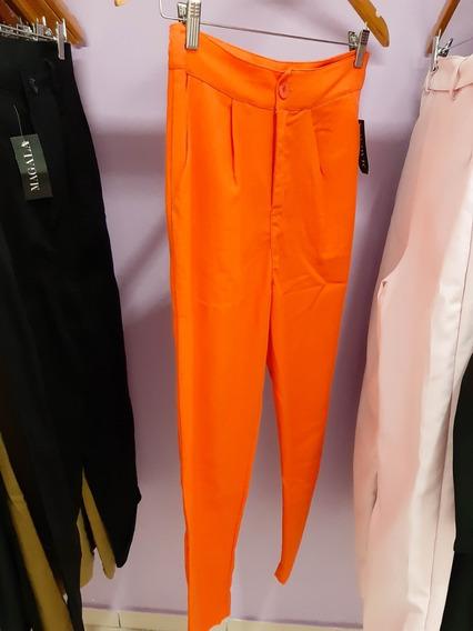 Pantalón Pinzado De Lino