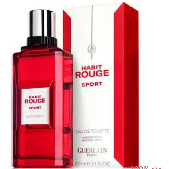 Guerlain Habit Rouge Sport 100ml + Amostra De Brinde