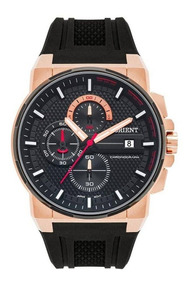 Relógio Orient Masculino Preto Rosê Mtspc009 P1px + Nota