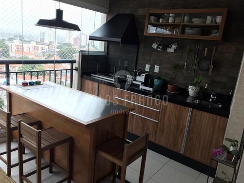 Imagem 1 de 15 de Vende Apartamento Com Varanda Gourmet Campo Belo. - Cf70013