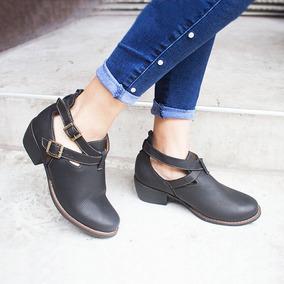 Botas Botin Zapato Taco Cuero Para Mujer Nuevo De Calidad