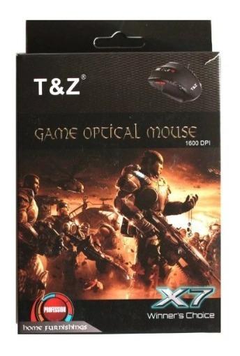 Mouse Gamer Computador Televisão Notebook 1600 Dpi X7