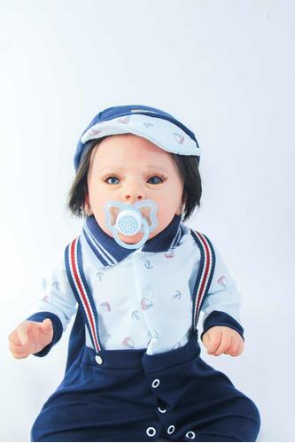 Imagem 1 de 10 de Bebe Reborn Menino Corpo Inteiro Vinil Siliconado (v - A)