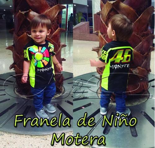 Franelas Vr46 De Niño Y Niña   Valentino Rossi Moto Gp