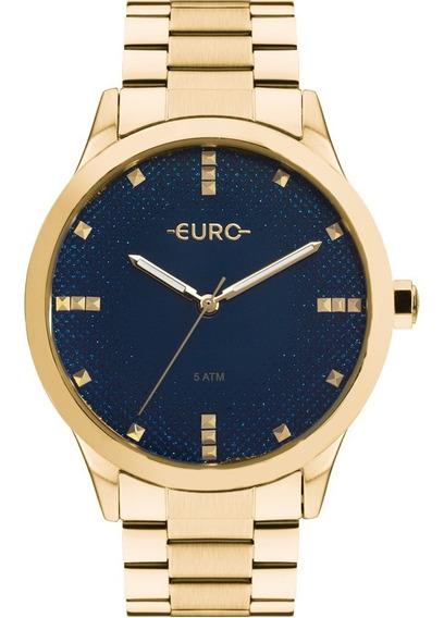 Relógio Feminino Dourado Euro Original Com Garantia