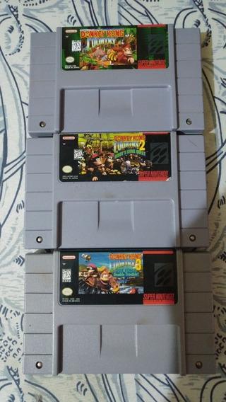 Trilogia Completa Donkey Kong Country Originais!!