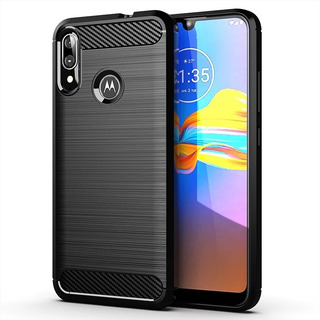 Carcasa Tpu Carbono Motorola One Action +mica Vidrio