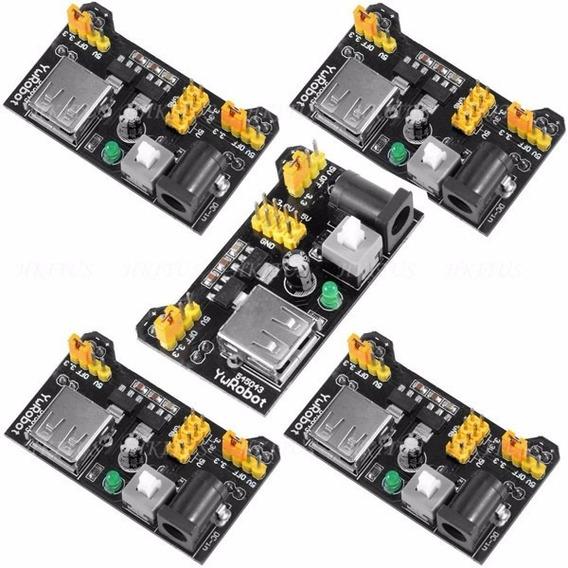 5 Fonte De Alimentação 3.3v 5v Mb102 Protoboard Arduino Pic