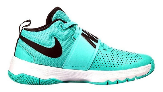 Tenis Nike Team Hustle D8 Negro Junior Turqueza 881941 302 Facturamos