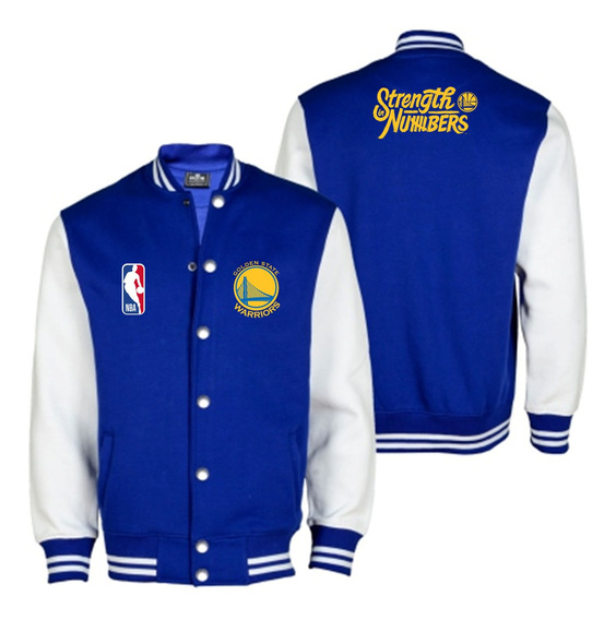Chaqueta Universitaria Nba Golden State Warriors Modelo 2019