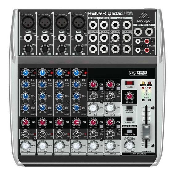 Mixer De Áudio Behringer Xenyx Q1202 Usb 110v