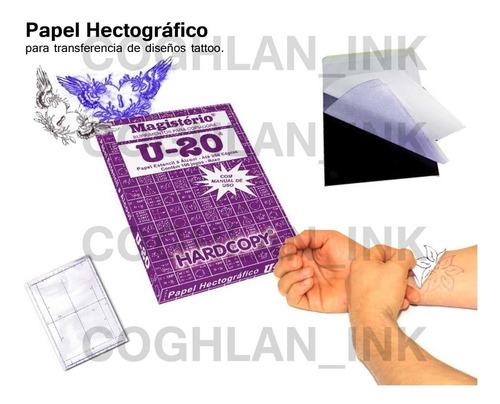 Papel Hectográfico Tattoo Transfer X 5 Tatuajes Tatuar